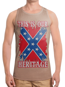 "Борцовка с полной запечаткой (Мужская) ""Флаг Конфедерации США"" - война, америка, флаг, сша, флаг конфедерации"