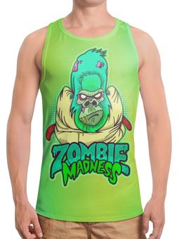 "Борцовка с полной запечаткой (Мужская) ""Zombie Madness"" - арт, zombie, зомби, обезьяна, горилла"
