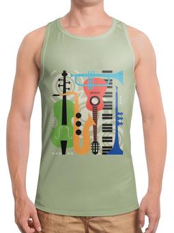 """Борцовка с полной запечаткой """"Музыкальные инструменты"""" - музыка, гитара, скрипка, инструменты, саксафон"""