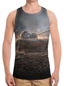 """Борцовка с полной запечаткой """"Танки"""" - 23 февраля, война, world of tanks, компьютерная игра, танки"""