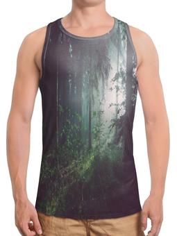 """Борцовка с полной запечаткой """"Природа леса"""" - лес, деревья, природа, пейзаж, трава"""