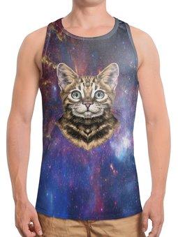 """Борцовка с полной запечаткой """"Кот в космосе"""" - кот, звезды, котенок, космос, коты в космосе"""