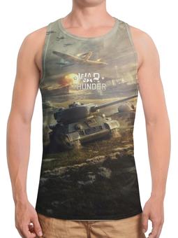 """Борцовка с полной запечаткой (Мужская) """"War Thunder"""" - игры, рисунок, танки, самалеты"""