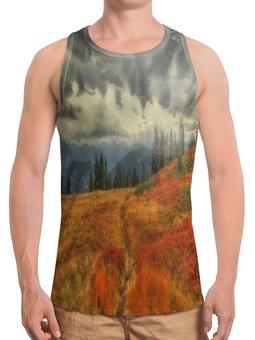 """Борцовка с полной запечаткой """"Горная тропа"""" - дорога, лес, природа, горы, тропа"""
