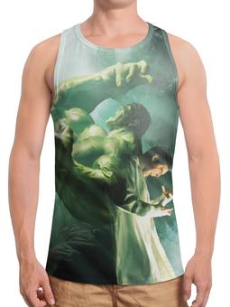 """Борцовка с полной запечаткой (Мужская) """"Халк / Hulk"""" - рисунок, комиксы, кино, марвел, халк"""