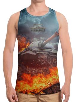 """Борцовка с полной запечаткой (Мужская) """"World of Tanks"""" - игры, рисунок, танки"""