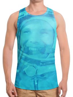 """Борцовка с полной запечаткой (Мужская) """"Гагарин"""" - космос, гагарин, летчик, первый, космонавт"""