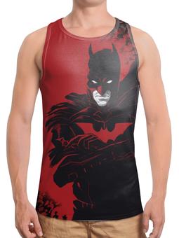 "Борцовка с полной запечаткой ""Бэтмен / Batman"" - комикс, рисунок, кино, бэтмен"