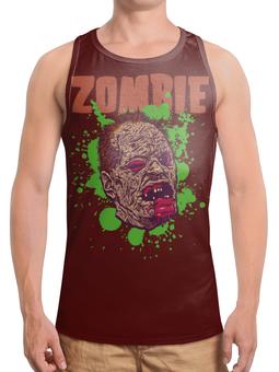 "Борцовка с полной запечаткой ""Зомби арт"" - skull, череп, арт, zombie, зомби"