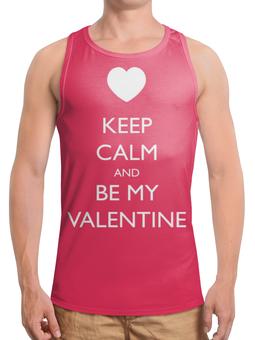 """Борцовка с полной запечаткой """"Keep Calm"""" - рисунок, keep calm, валентин"""