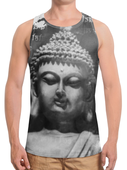 """Борцовка с полной запечаткой """"Будда (Письмена)"""" - философия, религия, будда, буддизм, хинди"""
