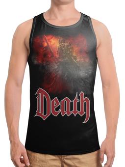 """Борцовка с полной запечаткой (Мужская) """"Death Art"""" - skull, череп, death, смерть, меч"""