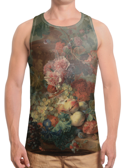 "Борцовка с полной запечаткой ""Цветы (Ян ван Хёйсум)"" - картина, живопись, ян ван хёйсум"