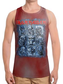 "Борцовка с полной запечаткой ""Iron Maiden Band"" - heavy metal, рок музыка, рок группа, iron maiden, eddie"