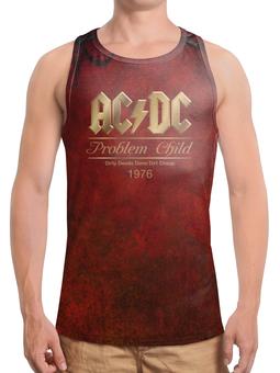 "Борцовка с полной запечаткой ""AC/DC"" - music, rock, золото, хард-рок, асдс"