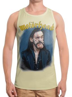 "Борцовка с полной запечаткой (Мужская) ""Motorhead Band"" - heavy metal, рок музыка, motorhead, lemmy kilmister, рок певец"