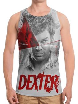 """Борцовка с полной запечаткой """"Декстер / Dexter"""" - декстер, рисунок, кино, сериал"""