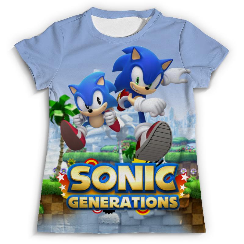 Футболка с полной запечаткой (мужская) Printio Sonic generations green hill zone рубашка в клетку insight fred sonic weed green