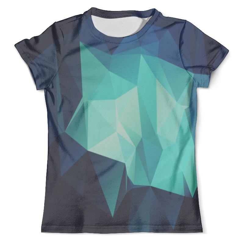 Футболка с полной запечаткой (мужская) Printio Blue abstract