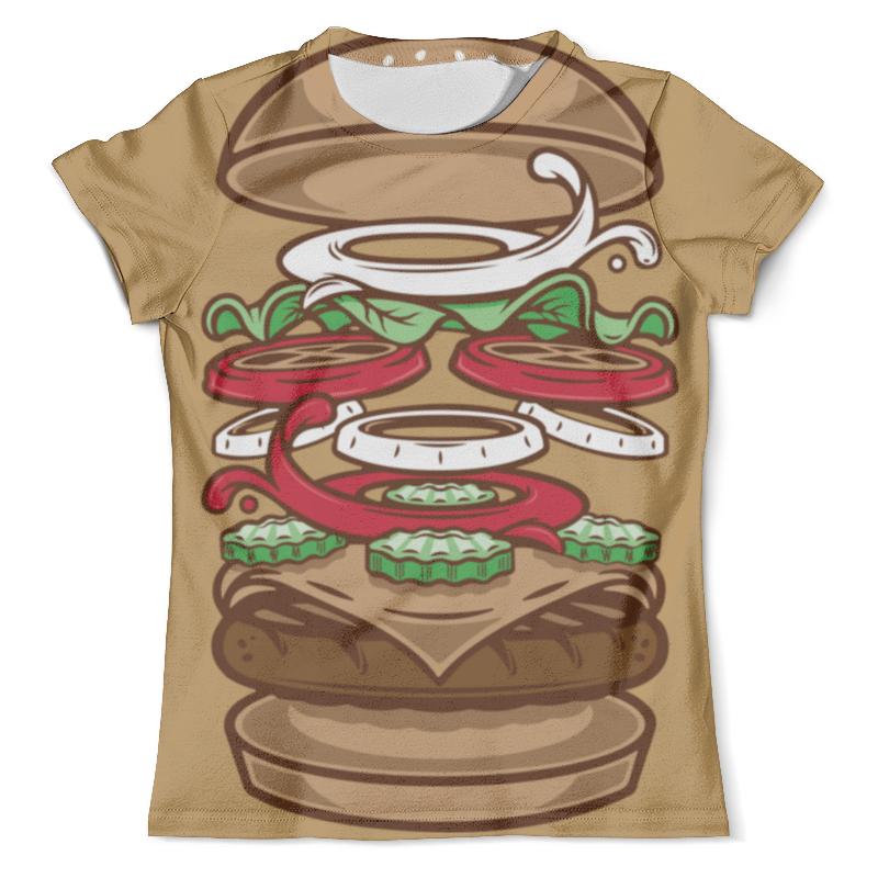 Футболка с полной запечаткой (мужская) Printio Burger/бургер