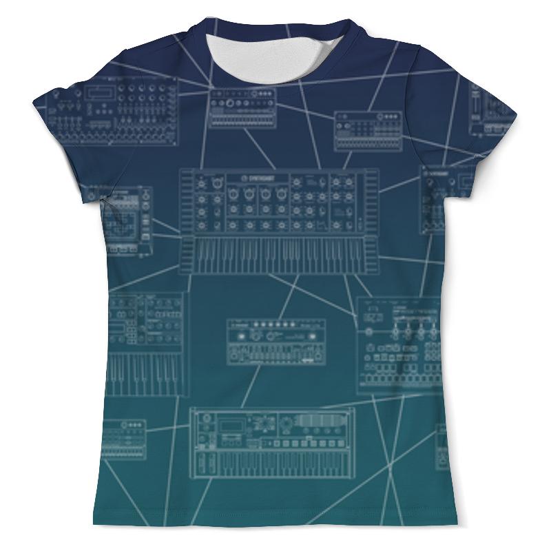 Футболка с полной запечаткой (мужская) Printio Synthshirt x korg volca kick key synthesizer analogue kick generator