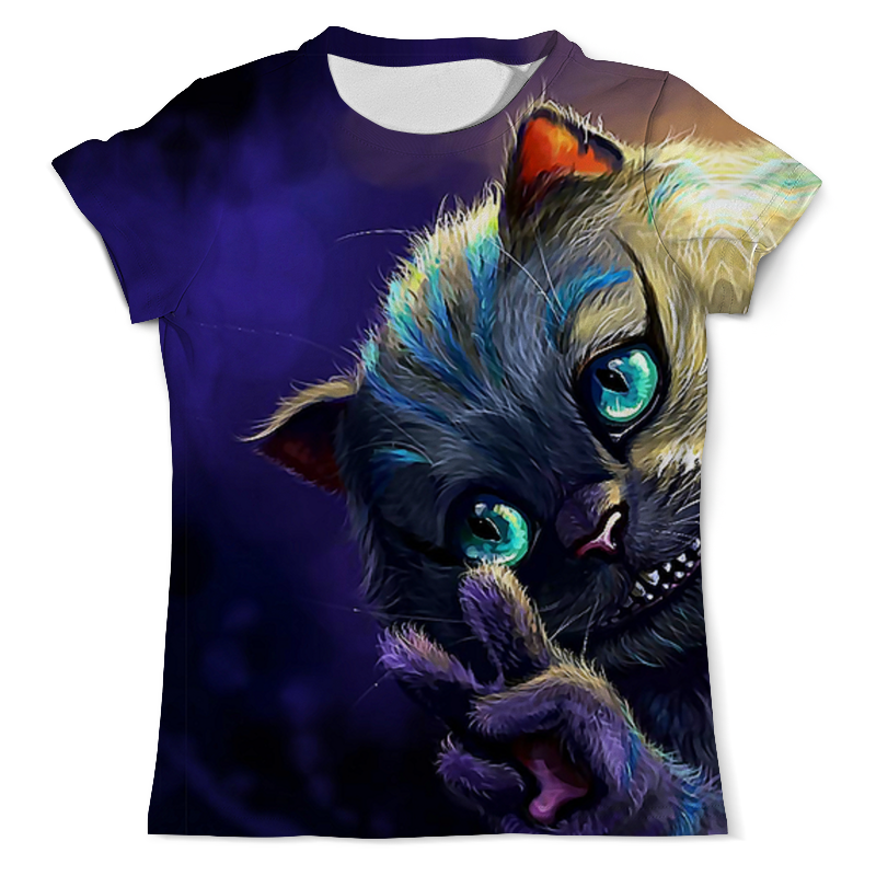 Printio We're all mad here (cheshire cat) футболка с полной запечаткой мужская printio we are all mad here