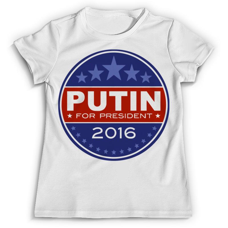 Футболка с полной запечаткой Printio Путин президент америки (2016) монета номиналом 1 доллар президенты эндрю джонсон сша 2011 год