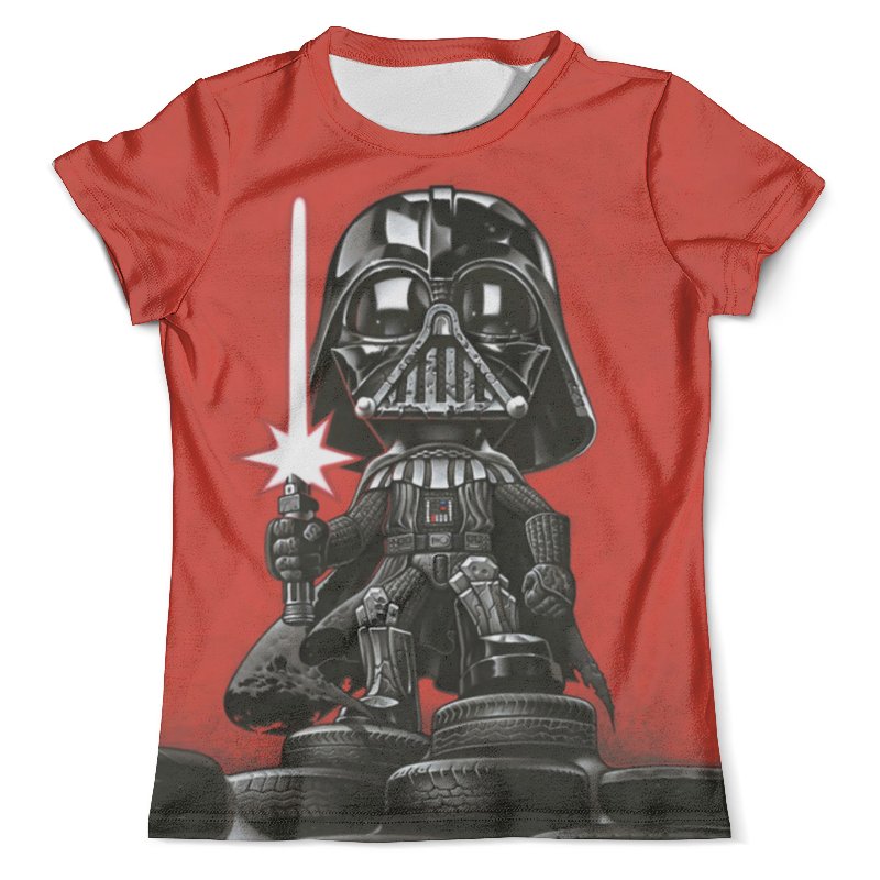 Футболка с полной запечаткой (мужская) Printio Darthauto (star wars) футболка с полной запечаткой мужская printio robots love story star wars
