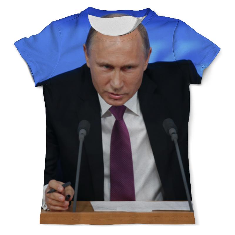 Футболка с полной запечаткой (мужская) Printio Президент путин футболка с полной запечаткой мужская printio путин в в