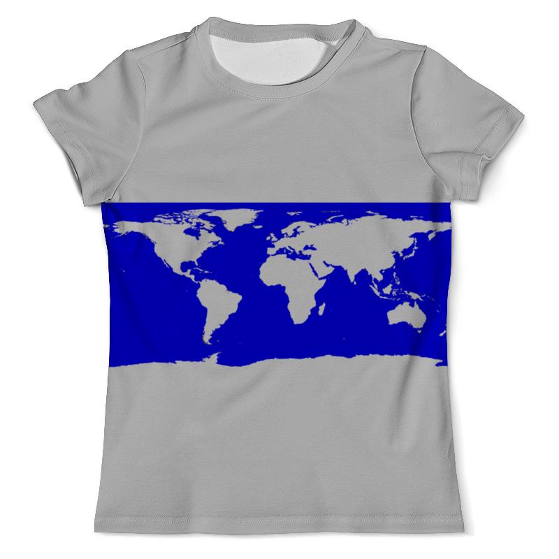 Футболка с полной запечаткой (мужская) Printio Карта мира