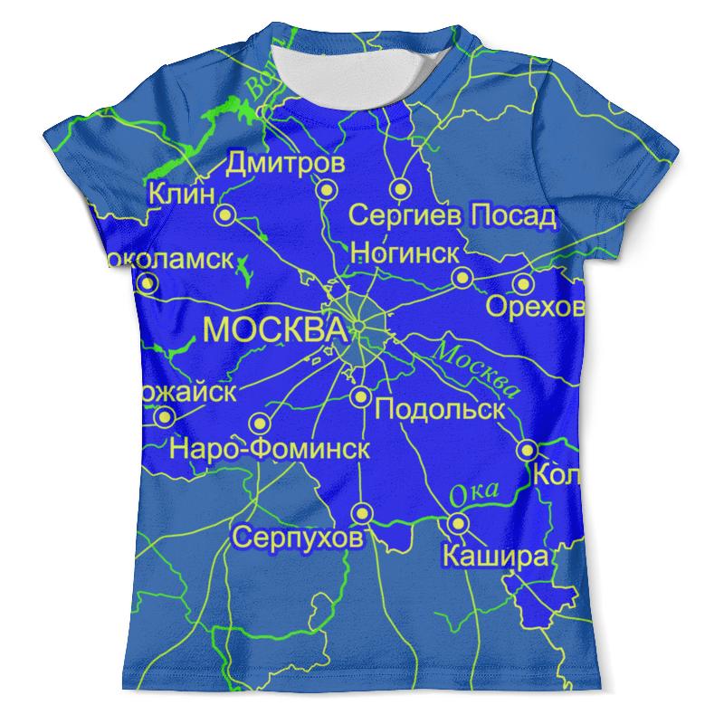Футболка с полной запечаткой (мужская) Printio Московская область. москва шторы в ванную printio московская область москва