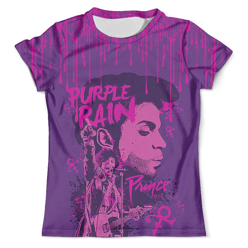 Футболка с полной запечаткой (мужская) Printio Prince – purple rain цена