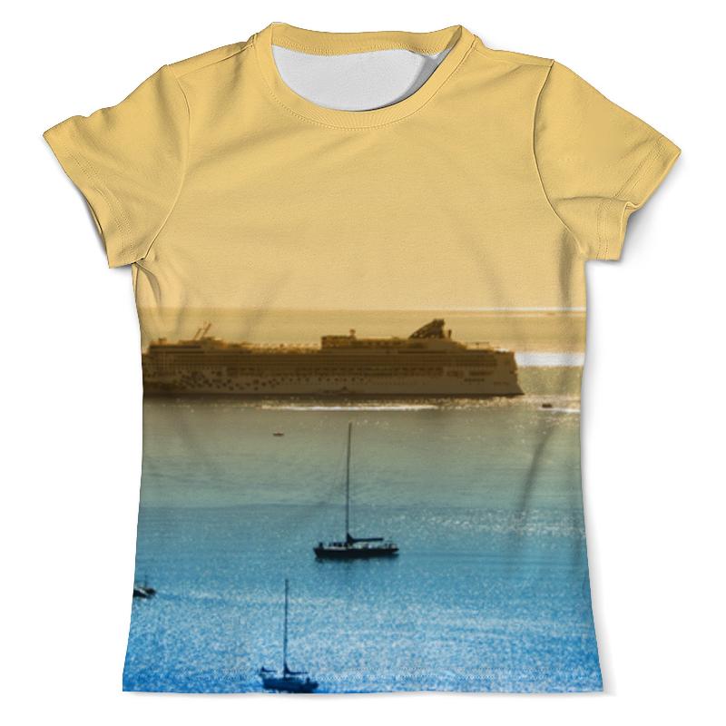 Футболка с полной запечаткой (мужская) Printio Корабли на море футболка с полной запечаткой мужская printio на отдых