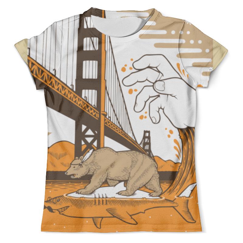 Футболка с полной запечаткой (мужская) Printio Bear on shark / медведь на акуле детская футболка классическая унисекс printio bear on shark медведь на акуле
