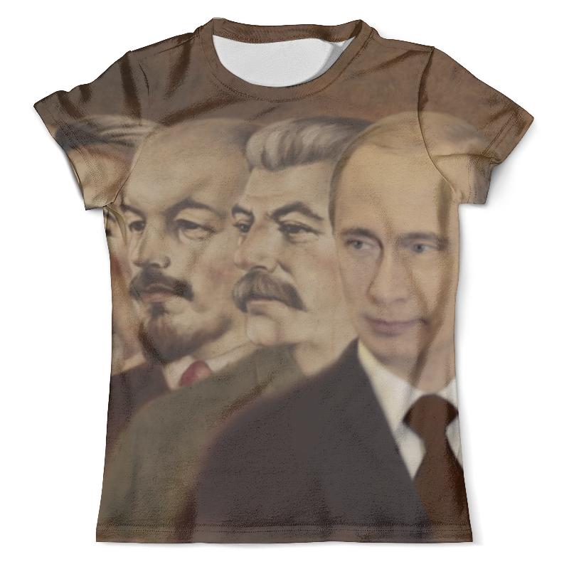 Футболка с полной запечаткой (мужская) Printio Ленин, сталин, путин футболка с полной запечаткой мужская printio путин casual collection