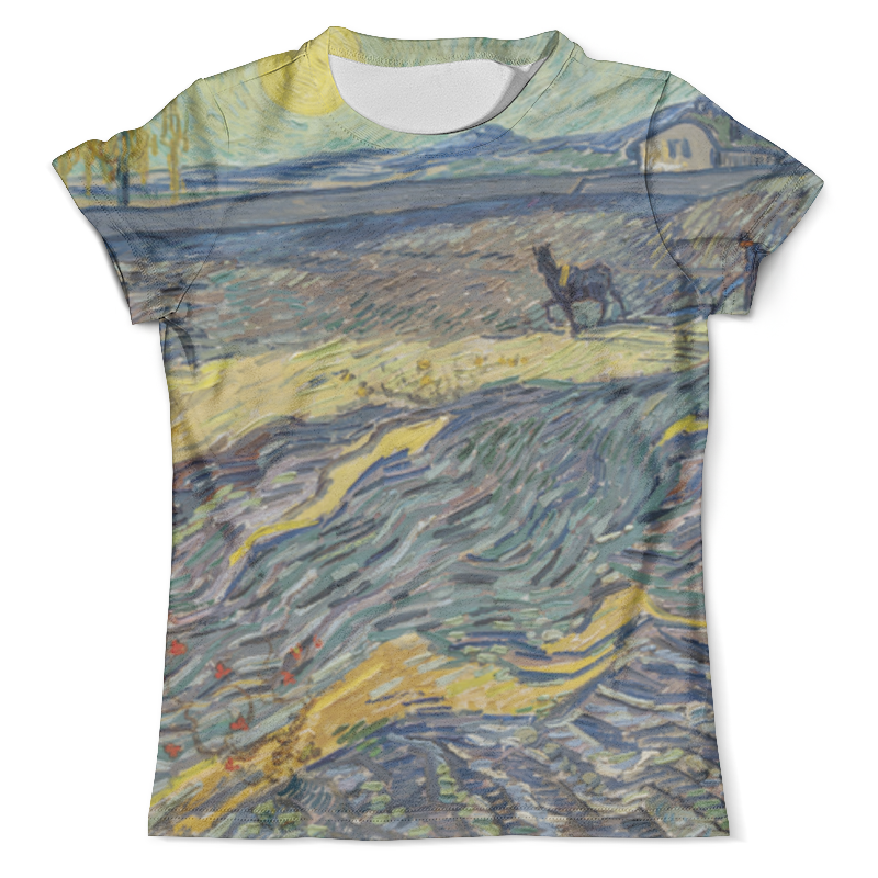 Футболка с полной запечаткой (мужская) Printio Вспаханное поле и пахарь (винсент ван гог) футболка с полной запечаткой женская printio ферма в пшеничном поле винсент ван гог