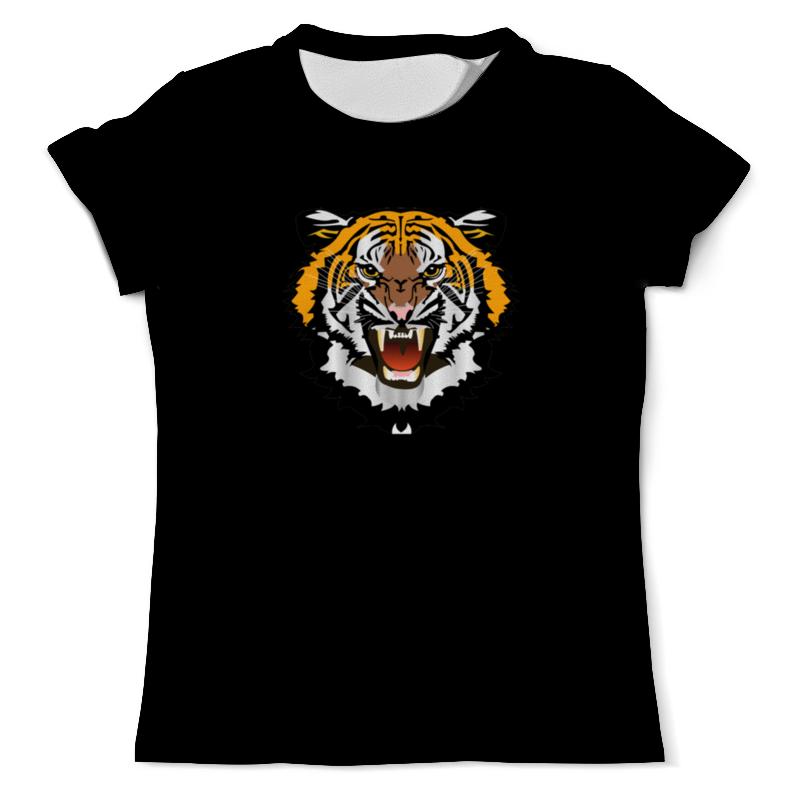 Футболка с полной запечаткой (мужская) Printio Охрана-тигр цена и фото
