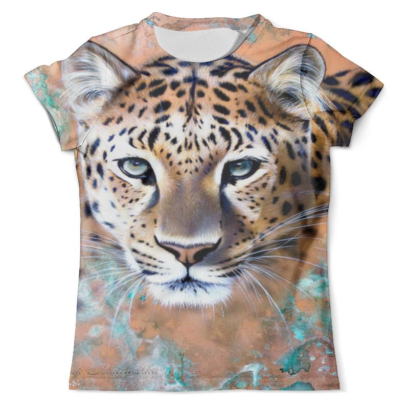Футболка с полной запечаткой (мужская) Printio Дикий леопард кот футболка с полной запечаткой мужская printio дикий леопард кот