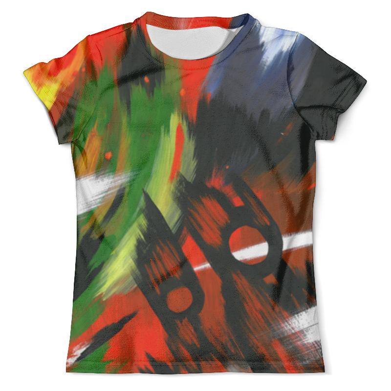 Футболка с полной запечаткой (мужская) Printio Красная абстракция с ножницами футболка с полной запечаткой мужская printio красная абстракция с ножницами
