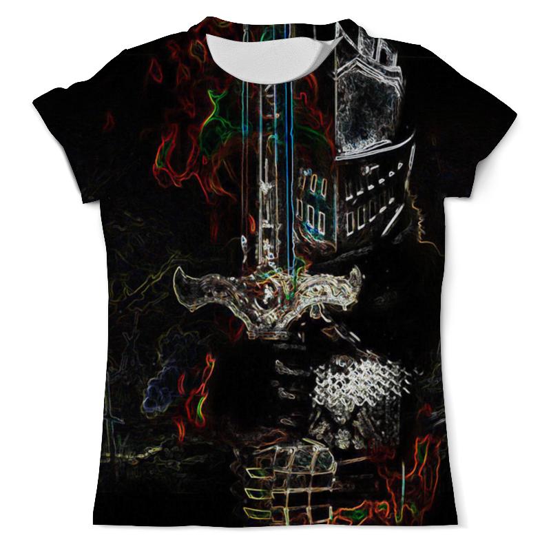 Футболка с полной запечаткой (мужская) Printio Рыцарь смерти dark souls футболка с полной запечаткой мужская printio встреча смерти
