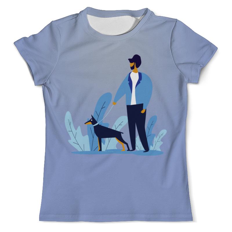Футболка с полной запечаткой (мужская) Printio Прогулка с собакой футболка с полной запечаткой мужская printio battlefield v
