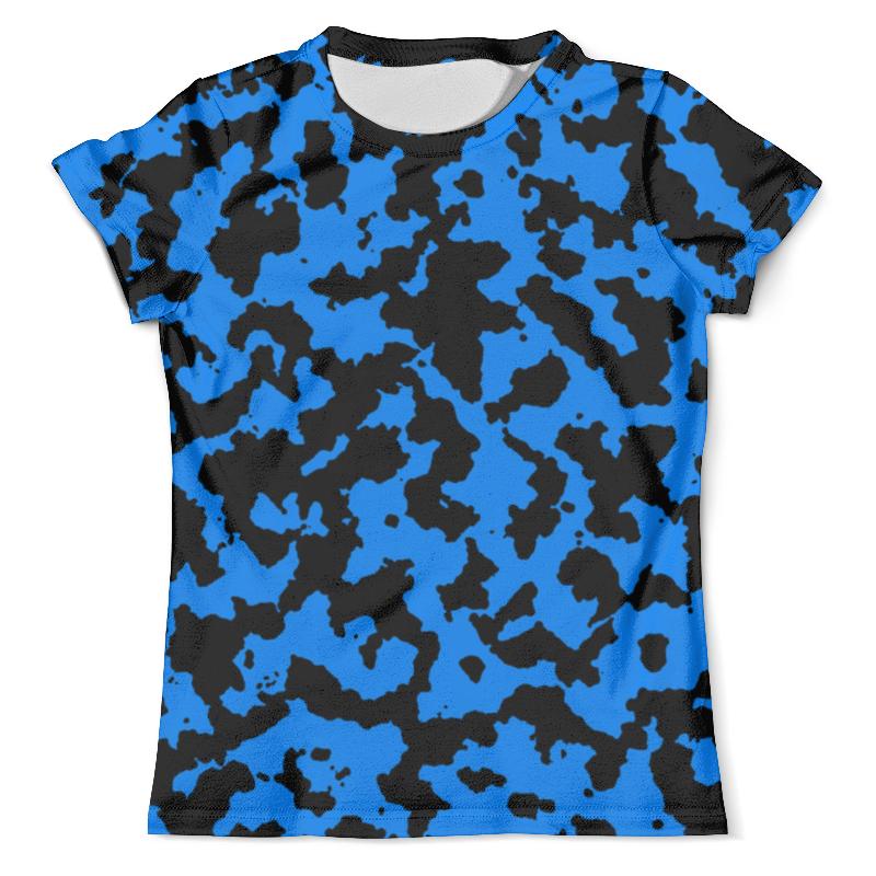 Футболка с полной запечаткой (мужская) Printio Чёрно-синий камуфляж