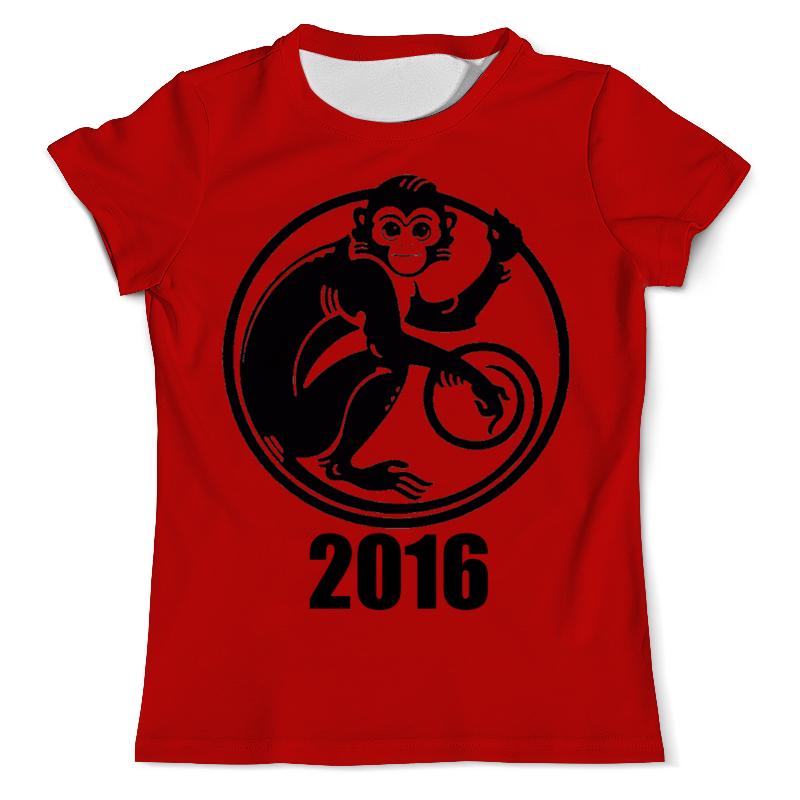 Футболка с полной запечаткой (мужская) Printio 2016 - год обезьяны футболка с полной запечаткой мужская printio dtm 2016 mattias ekstrom