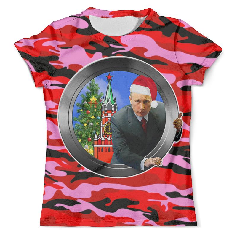 Футболка с полной запечаткой (мужская) Printio С новым годом! (путин) футболка с полной запечаткой мужская printio фрактальная эзотерика мандалы