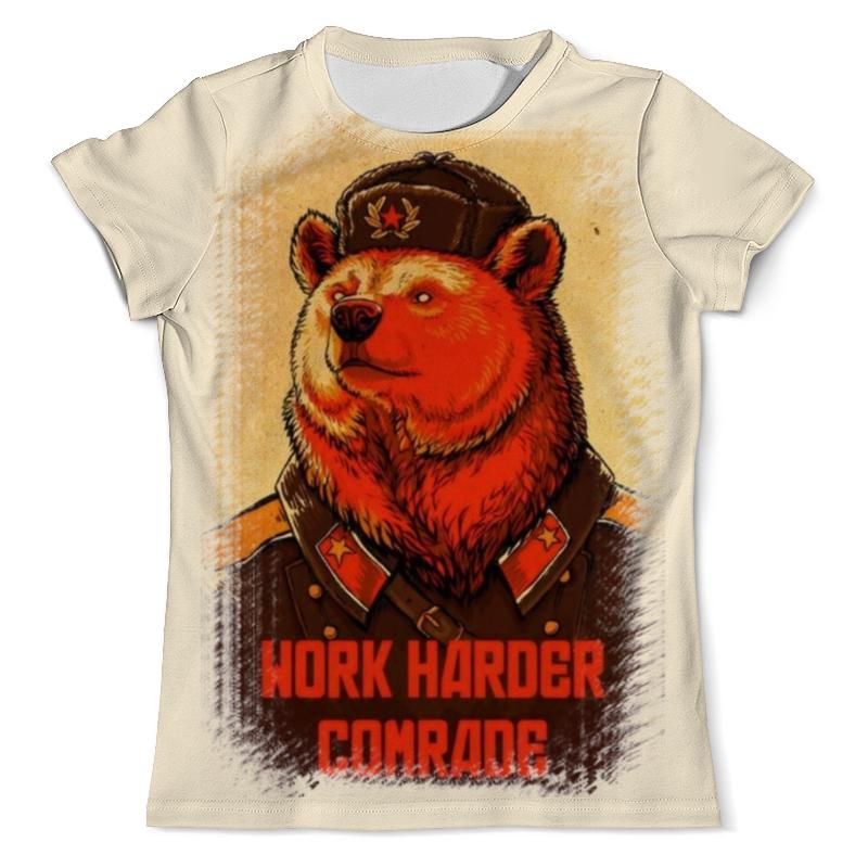 Printio Comrade bear футболка с полной запечаткой для девочек printio comrade bear