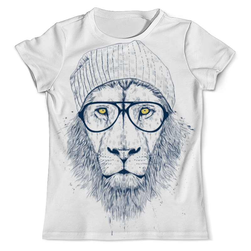 Printio Hipster lion 3d round neck long sleeve 3d golden chain and crown lion print sweatshirt