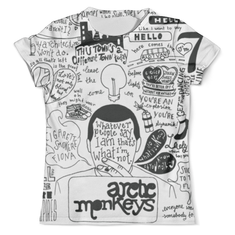 Футболка с полной запечаткой (мужская) Printio Arctic monkeys футболка arctic monkeys