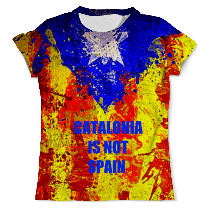 Футболка с полной запечаткой (мужская) Printio Свободная каталония цена и фото