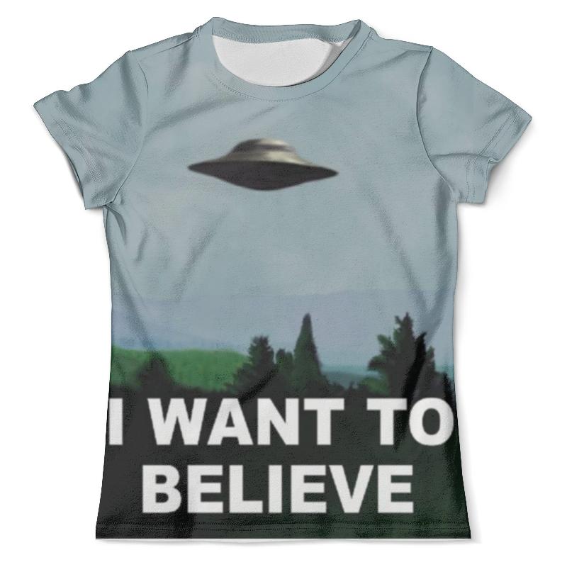 Футболка с полной запечаткой (мужская) Printio I want to believe худи print bar i want to believe
