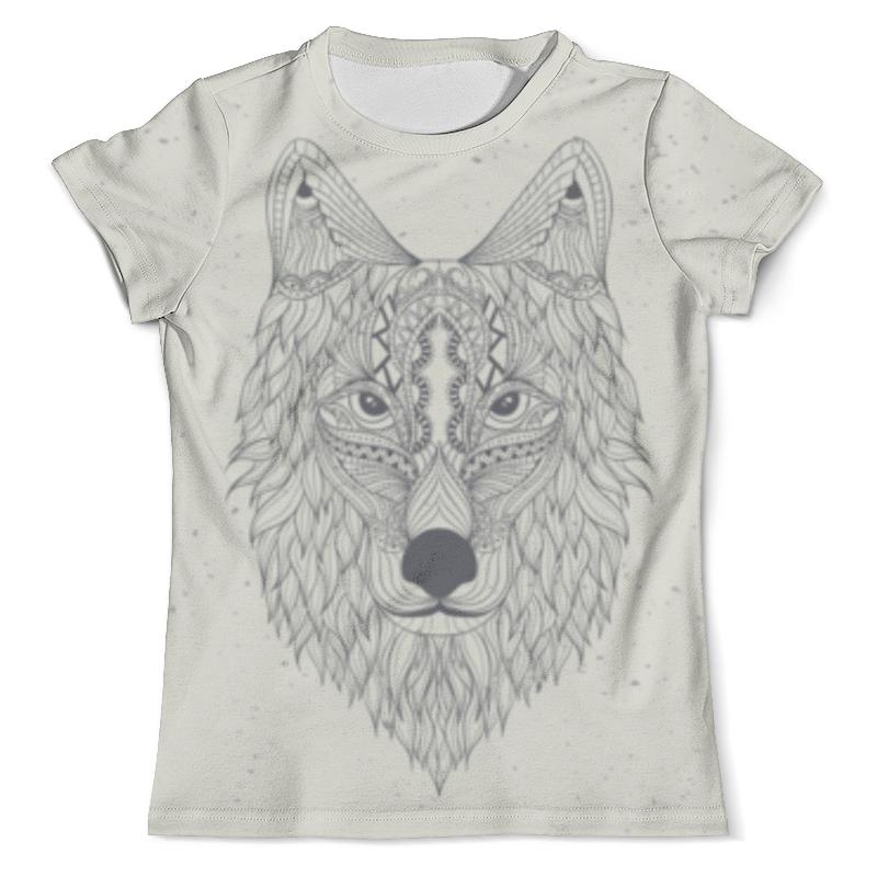 Футболка с полной запечаткой (мужская) Printio Волк-шаман футболка с полной запечаткой мужская printio красная шапочка и серый волк